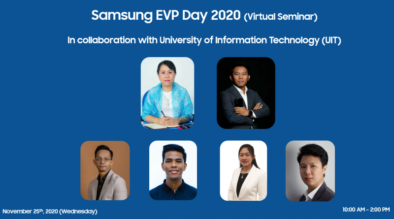 Samsung Myanmar organizes its Employee Volunteer Program for the students from the University of Information Technology