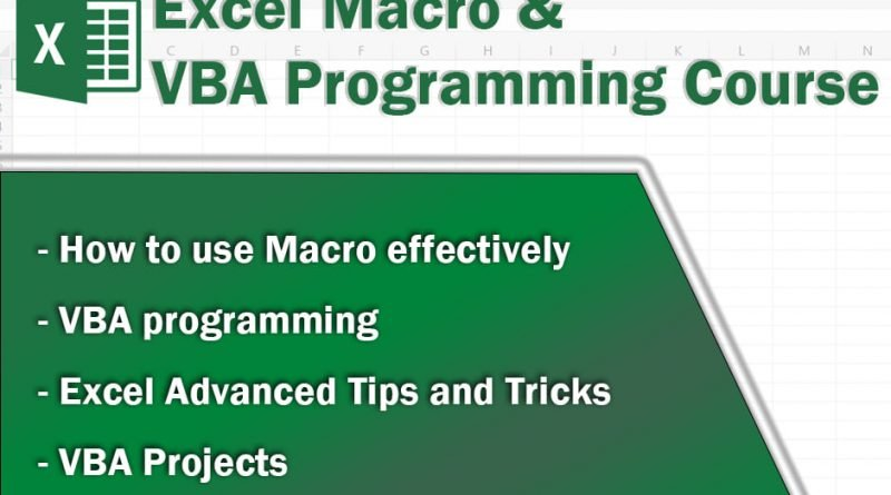 Alpha X Training Center launches Excel Macro & VBA programming online course for Microsoft Excel users