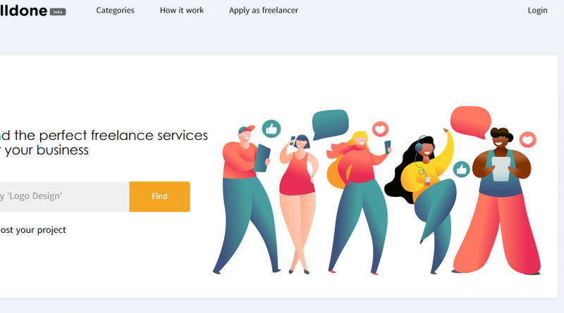 Welldone, a freelance platform that connects businesses and freelancers